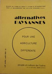 Alternatives Paysannes - Pour une agriculture différente